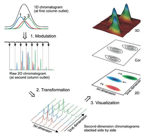 GCxGC comprehensive two-dimensional gas chromatography