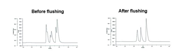 HPLC column lifetime - split peaks
