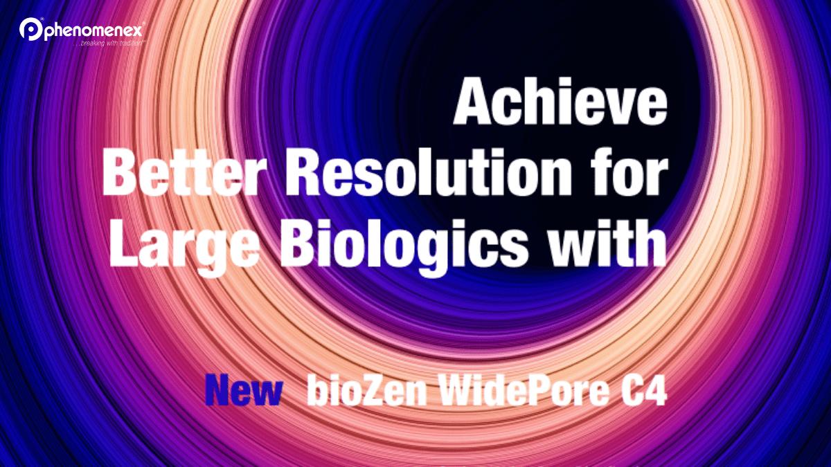 wider pore biozen LC column