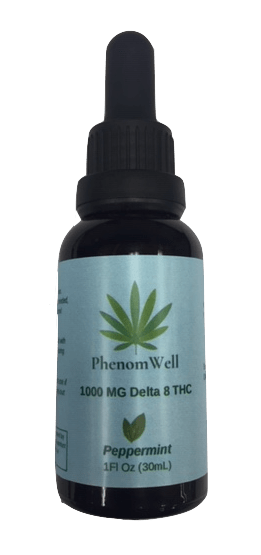 PhenomWell Peppermint 1000mg Delta 8 THC Tincture