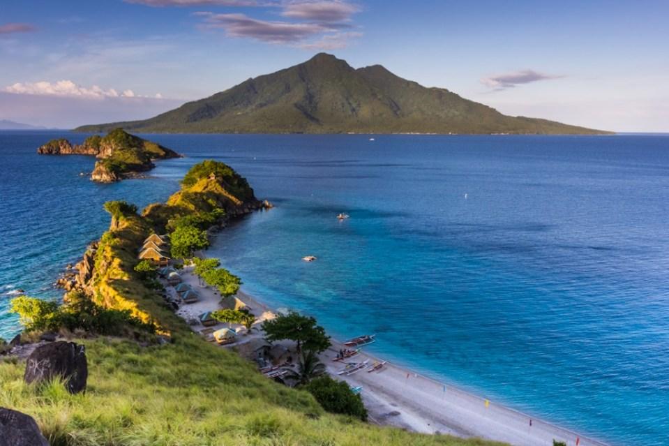 Sambawan Island overlooking Maripipi (Volcano) Island in Biliran