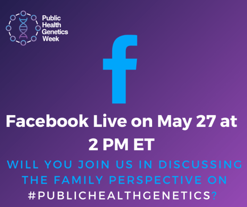 Facebook Live on May 27 at 2 PM ET