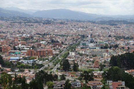 Cuenca, Aussicht von Turi