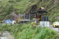 """Zipline-Plattform. Von hier kann man am Drahtseil hängend über einen Kilometer entlang und über die Schlucht """"fliegen"""""""