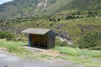 Leichtfüssige Architektur einer Bushaltestelle
