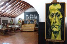Portrait von Paco de Lucía im Atelier von Oswaldo Guayasamín
