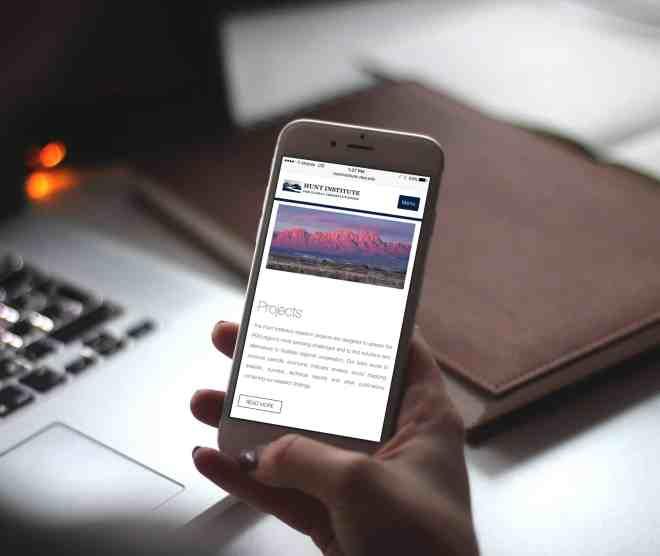Responsive Web Design for Hunt Institute
