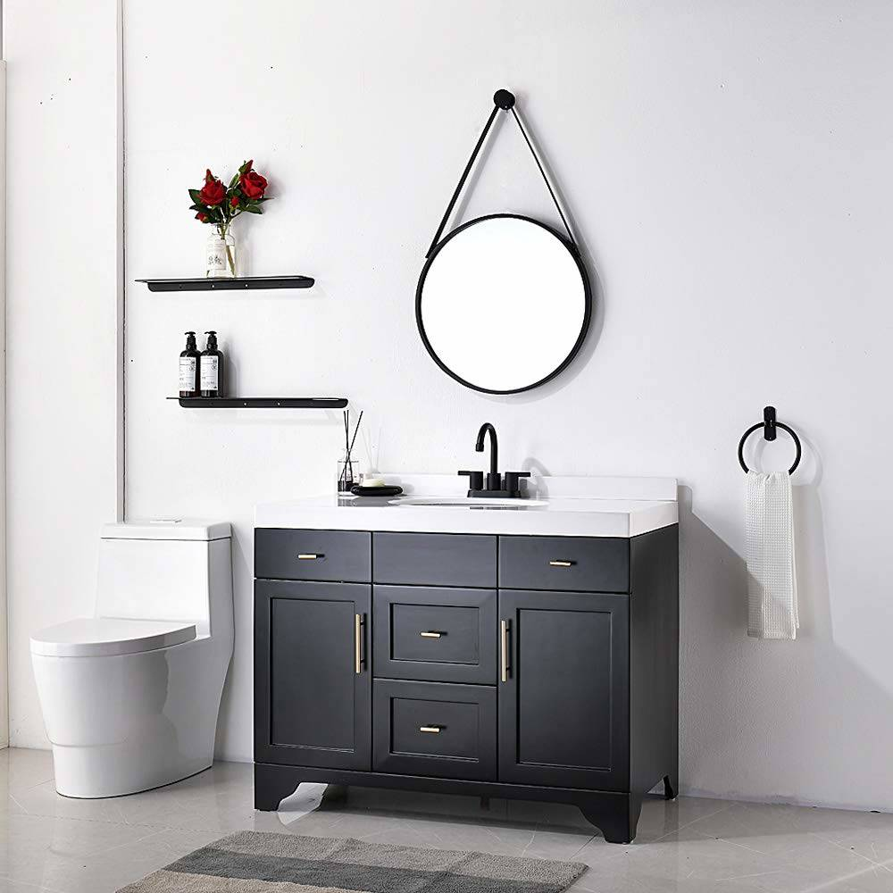 matte black lead free bathroom faucet