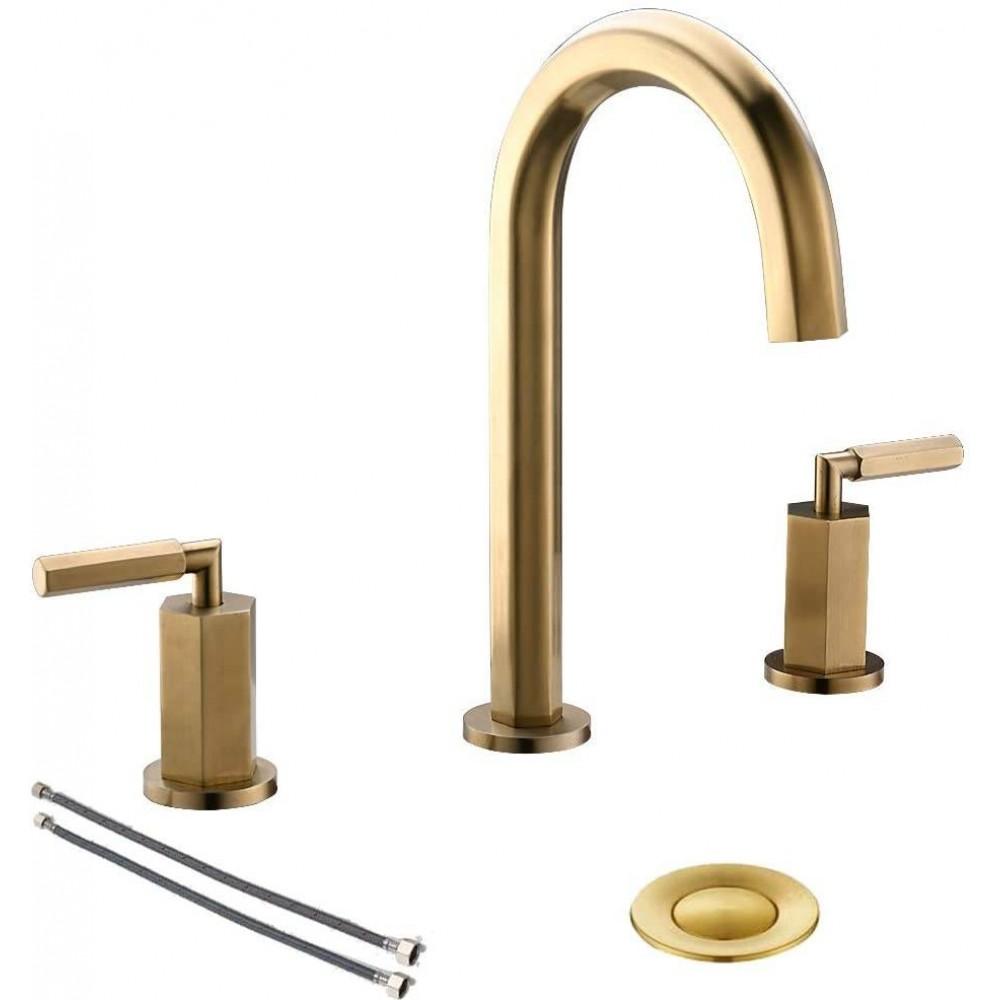 2 handle 3 hole brass widespread