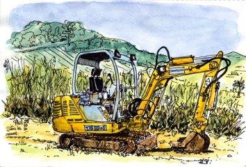 Sketch of a Bobcat.