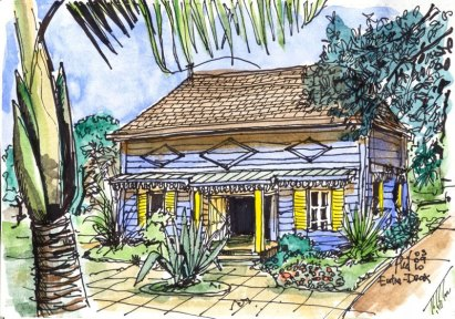 Sketch of a creole house, by Phil