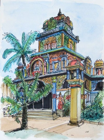 Sketch of a tamil temple, by Phil