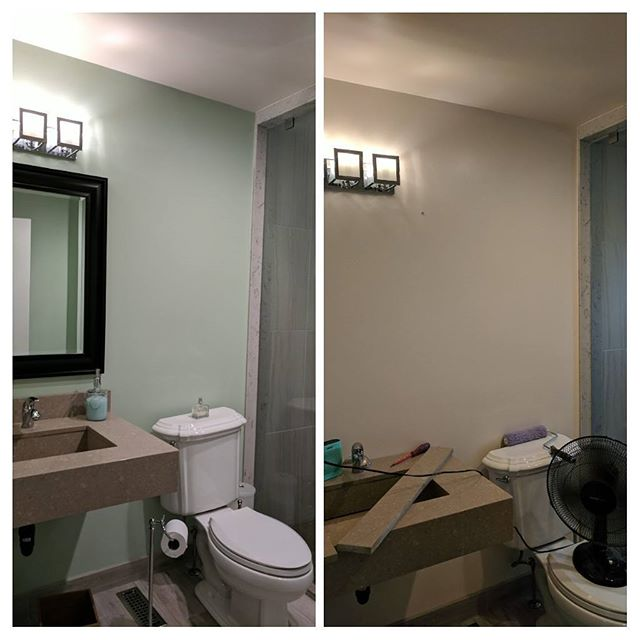 Well so much for a relaxing day off... But at least our bathroom looks new and snazzy.