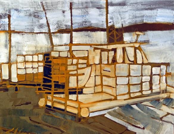 Erin McGee Ferrell. Lobster Boat. Falmouth, Maine. Philadelphia-Artist.com