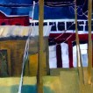 Erin McGee Ferrell paints Thompson's Point. Portland, Maine