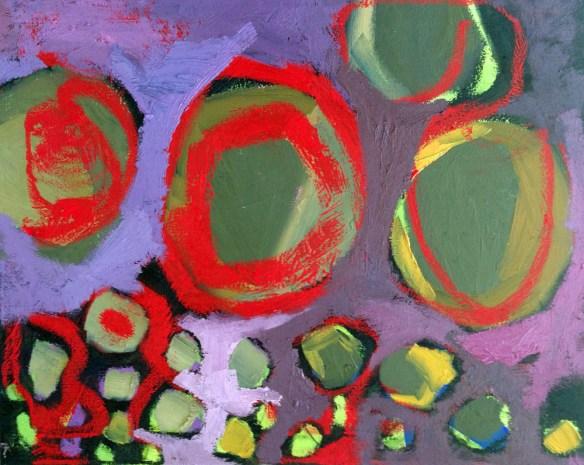 Erin McGee Ferrell Stones in Winter. Maine Abstract Art Series