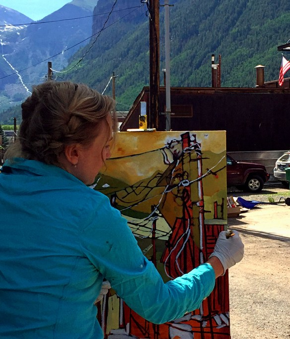 Telluride Plein Air Painting. Colorado. www.Philadelphia-Artist.com