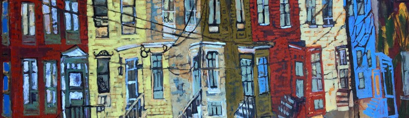 Urban Portland Paintings. Erin McGee Ferrell. Maine Architectural Artist