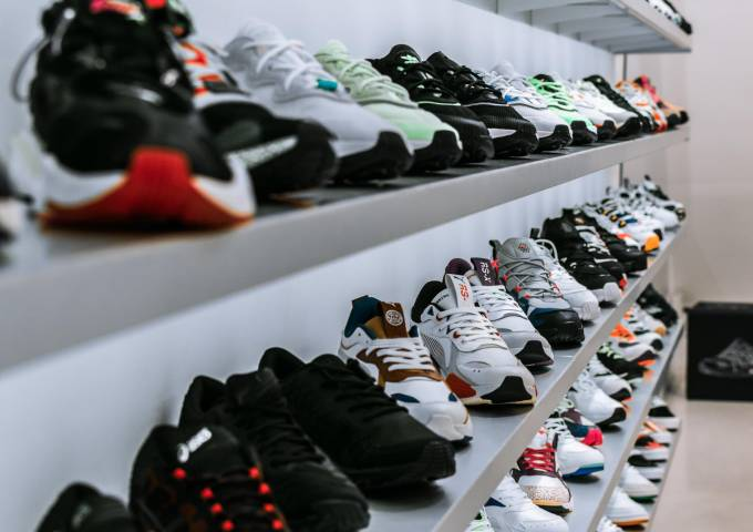 Row of shoes