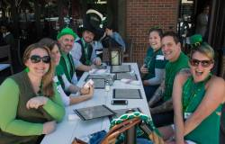 St. Patrick's Day crowd