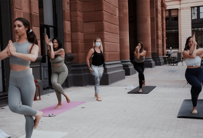 Yoga at The Bourse