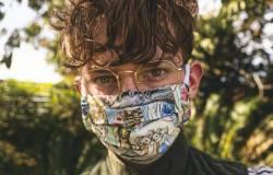 Covid mask wearer