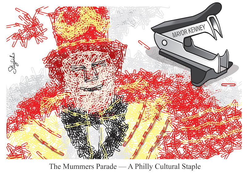 Mummers cartoon
