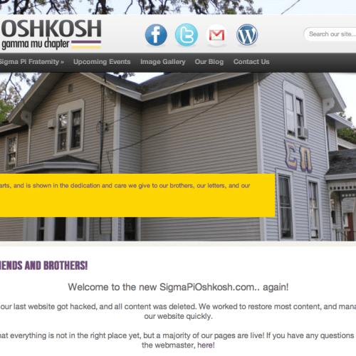 Sigma Pi Oshkosh Public Relations