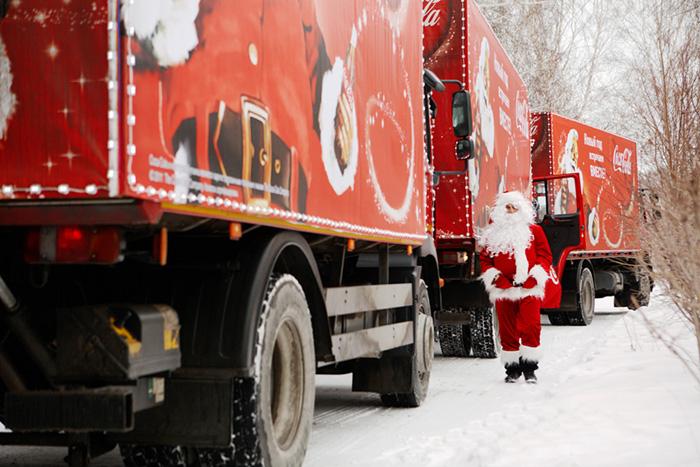 «Рождественский Караван» Coca-Cola Hellenic начал свое путешествие по России