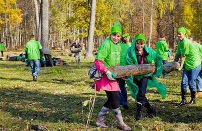 Пример корпоративного добровольчества. Волонтеры компании Крафт Фудс Рус в Приокско-Террасном заповеднике