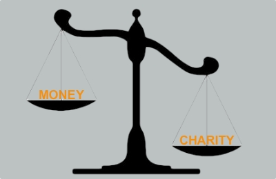 money and charity
