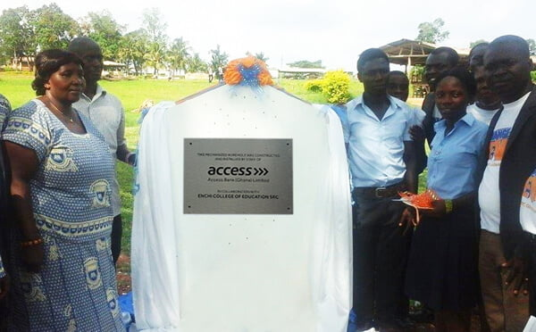 Access Bank employees provide borehole for Enchi Training College