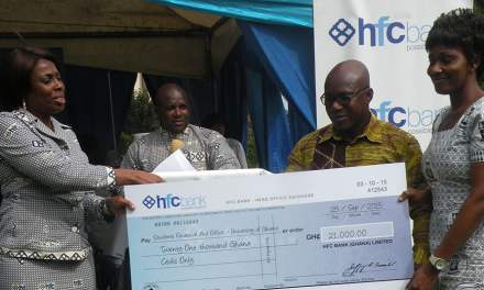 HFC Bank Donates To University of Ghana Financial Aid Office