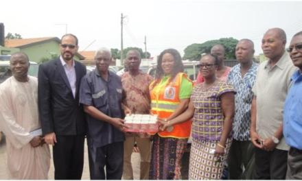 The Islamic University College donates to NADMO to support disaster victims