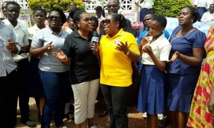 Tagoe Sisters give to Mampong School for the Deaf