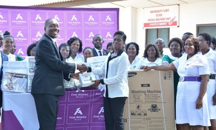 First Atlantic Bank donates equipment and supplies to Tema Polyclinic