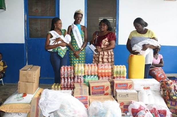 Miss Ghana 2013 donates to Countryside Orphanage