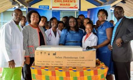 Stanbic gives neonatal phototherapy equipment to Ridge