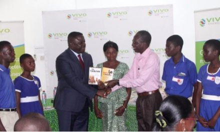 Vivo Energy gives library books to Accra Metro Education Office
