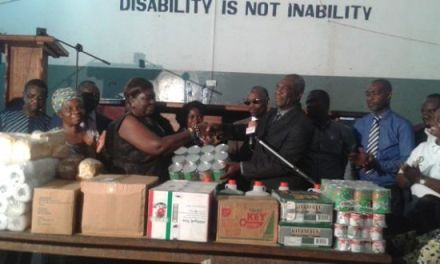 Audit Service donates to Akropong School for the Blind