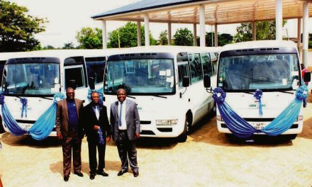 Prudential Bank donates four mini buses to UDS