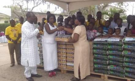 TT Brothers give grocery supplies to Tema SOS