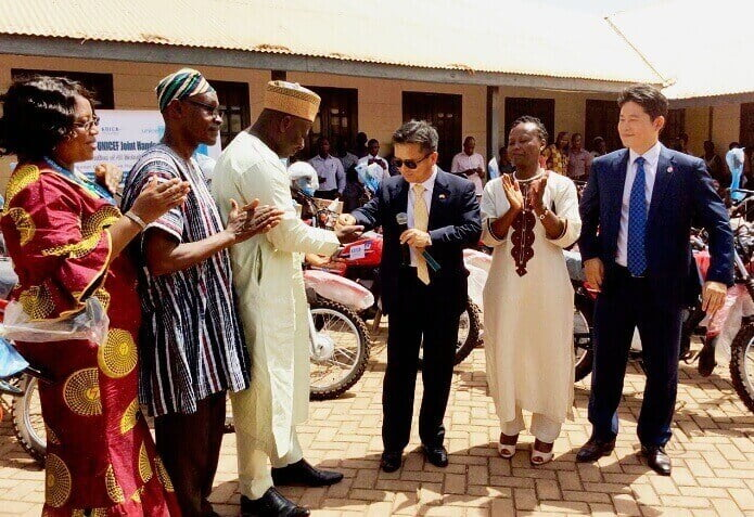 South Korea donates motorcycles to Ghana Health Service in North, Upper East