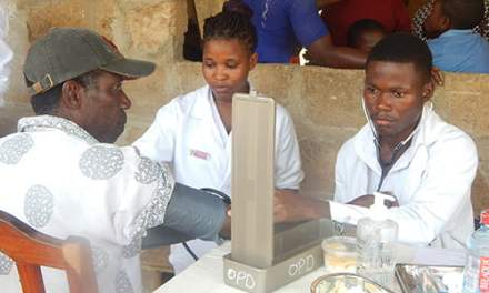 UHAS Nursing and Midwifery reach out to Kpedze