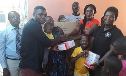 Jerry Justice gives to Power of Love Children's Home