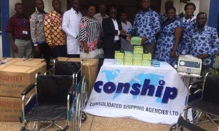 CONSHIP gives equipment to Tema General Hospital
