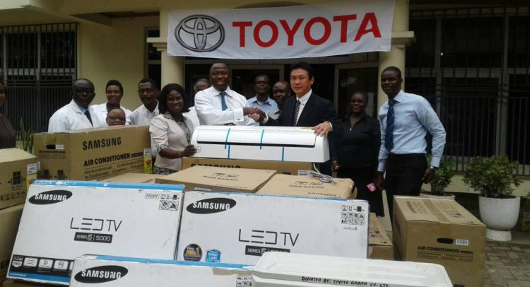Toyota gives air conditioners and TVs to Korle-Bu Burns Centre