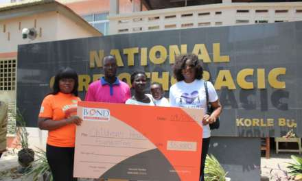 BOND gives GH¢35,880 to Children's Heart Foundation