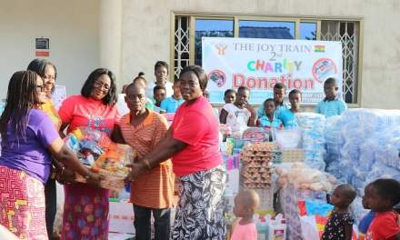 Joy Train gives to Nyamedua & West Africa Mercy Ministries