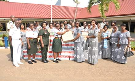 Grand Ladies Auxiliary KSJ gives to 37 Military Hospital